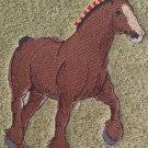 Embroidered Trotting Draft HORSE Sage Green Wash Hand Bath Towel Set