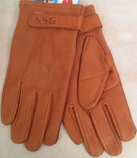 SSG Unlined Deerskin Gloves- Acorn Tan Mens Medium