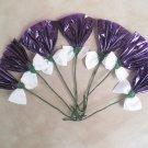 Rosettes Horse Mane Flowers - Purple & White