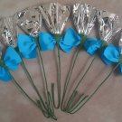 Rosettes Horse Mane Flowers - Silver & Turquoise