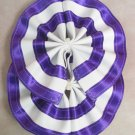 Two Color Draft Horse Tail Bow  - Purple & White