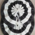 Two Color Draft Horse Tail Bow  - Black & White