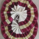 Two Color Draft Horse Tail Bow  - Burgundy & Gold