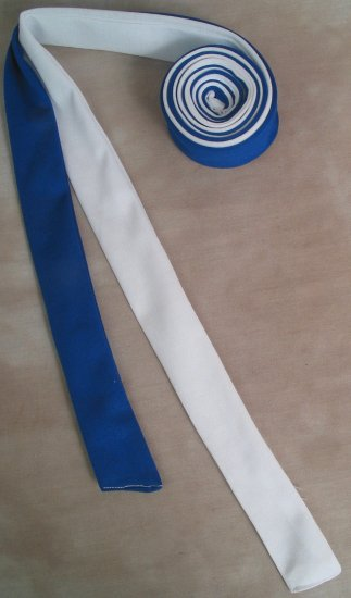 Two Color Draft Horse Mane Roll  - Blue & White