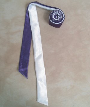 Two Color Draft Horse Mane Roll  - Purple & White