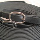 Biothane 20' Driving Lines Single Horse 1 Inch Buckle Black