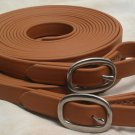 Biothane 17' Driving Lines Single Horse 5/8 Inch Buckle Tan