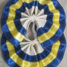 Two Color Draft Horse Tail Bow  - Blue & Yellow