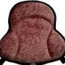 Saddle Cushion Brown Polar Fleece Scroll - Western Saddle Size