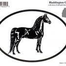 Morgan Horse Oval Decal