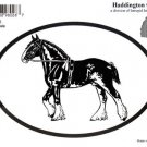 Clydesdale Draft Horse Oval Decal