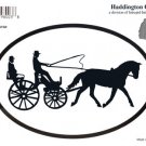Horse & Carriage Oval Decal