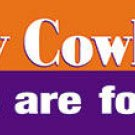 Silly Cowboy Bumper Sticker