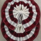 Two Color Draft Horse Tail Bow  - Burgundy & Silver