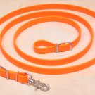 Beta Biothane Roper Reins 8 Foot, 3/4 Inch Orange, 1 Snap