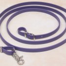 Beta Biothane Roper Reins 8 Foot, 3/4 Inch Purple, 1 Snap