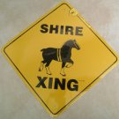 Shire Draft Horse Xing Sign