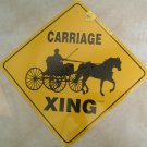 Single Horse and Cart Road Xing Sign