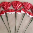 Rosettes Miniature Horse Mane Flowers - Red & White