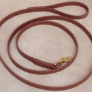 """6' Long 3/4"""" Saddle Brown Beta Biothane Dog Leash"""