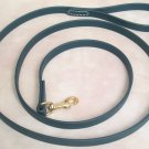 "6' Long 5/8"" Hunter Green Beta Biothane Dog Leash"