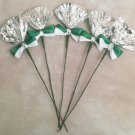 Rosettes Miniature Horse Mane Flowers - Green & White