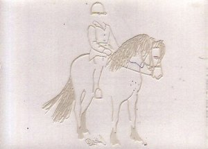 English Rider & Pony Window Art Decal