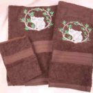 Koala Bears Dark Brown Wash Hand Bath Towels Set