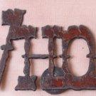 Rustic Metal WHOA! Magnet