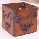 Rustic Metal Running Horse Candle Holder