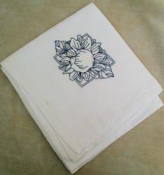 Sunflower Flour Sack Dish Towel