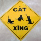 Cats at Play Caution Yard Sign