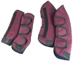 Set of 4 Mini Shipping Boots - Maroon