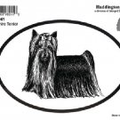 Yorkshire Terrier Dog Oval Decal