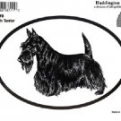 Scottish Terrier Dog Oval Decal