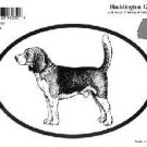 Beagle Dog Oval Decal