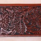 Tooled Leather Wallet and Credit Card Holder