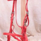 Red Beta Halter Bridle - Horse Size