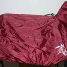 Bridled Horse Head Stow-away Burgundy Saddle Cover