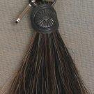 Dark Horse Hair Zipper Pull