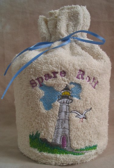 Lighthouse Terry Spare Toilet Roll Cover