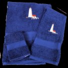 Great Point Nantucket Lighthouse Embroidered Bath Towels