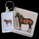 Belgian Draft Horse Acrylic Key Ring