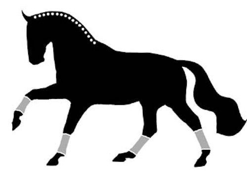 Extended Canter Horse Window Sticker Decal