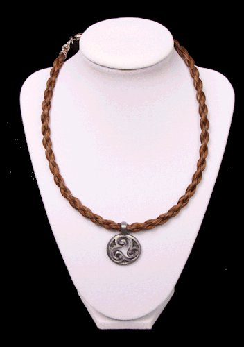 Brown Braided Horse Hair Choker with Harmony Charm