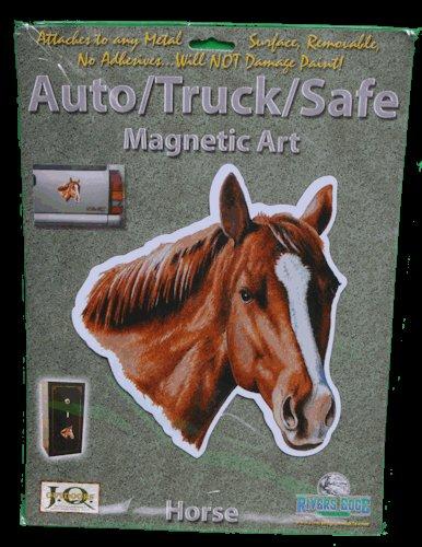 Chestnut Horse Auto/ Truck/Safe Magnetic Art
