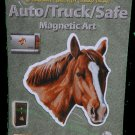 Chestnut Horse Auto/ Truck/Safe Magnetic Art