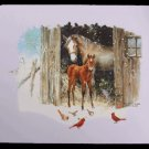 Winter Scene Mare and Foal Mouse Pad