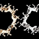 Running Horses Platinum Bracelet