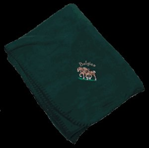 Belgian Draft Horse Embroidered Fleece Throw Blanket